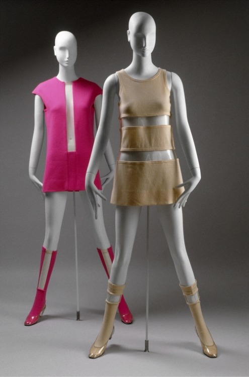 Rudi Gernreich ensembles ca. 1967 via The Costume Institute of the Metropolitan Museum of Art