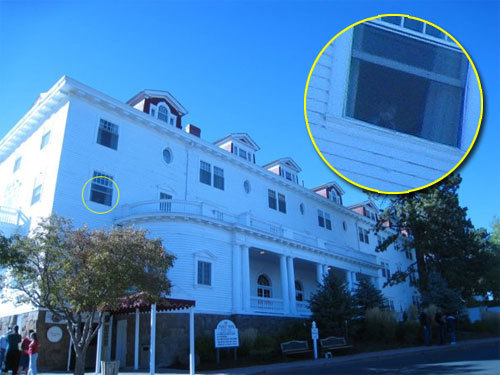 gacarmy:  A ghost in the window of the Stanley Hotel  HOLY SHIT