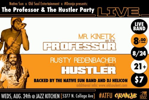 #ATFU #TPATHLIVE at THE JAZZ KITCHEN -  8/24/11 Wednesday, August 24: Mr. Kinetik & Rusty Redenbacher will play a very special show at The Jazz Kitchen. They'll be performing 'The Professor And The Hustler' with The Native Sun, one of the illest bands in Naptown. The grooves will be THICK, believe that. Save the date and make sure to download 'The Professor And The Hustler', if you haven't already.  8/24/11 - Mr. Kinetik & Rusty Redenbacher with The Native Sun, 'The Professor And The Hustler' LIVE…FURREAL…at The Jazz Kitchen. Also featuring our man, DJ HELICON keeping the party moving… Hit the pic to go to the direct link to download 'TPATH' #also…#aswell.  \o/ hehe…and watch for 'The Tinkerer'… #ATFU - All Together For Us.