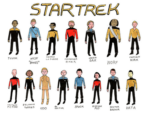 heyoscarwilde:  Star Trek illustration by Malachi Ward :: via malachiward.blogspot.com