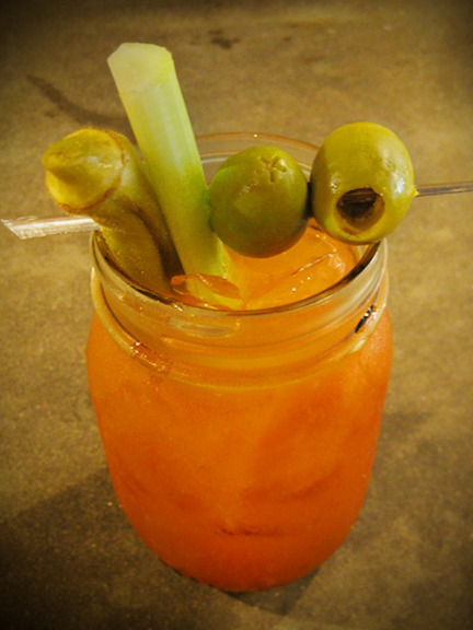 I hope you're having a bloody mary as yummy as this one this morning! The Four Pepper Bloody Mary at The Porter boasts a house infused pepper four pepper vodka, Nick's Bloody Mary mix, and plenty of fixin's all served up in a Mason jar. Photo credit: Lush Lady