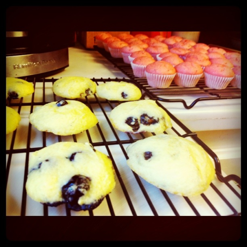 Yummy, low-cal, lemon blueberry cookies & strawberry margarita cupcakes.
