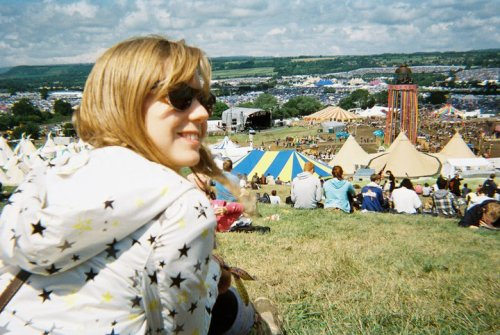 Glastonbury, Somerset Number 19 on the Bucket list. Stolen this photo off a friend, but its my favourite from the weekend. I also love the fact it was taken on a disposable camera…