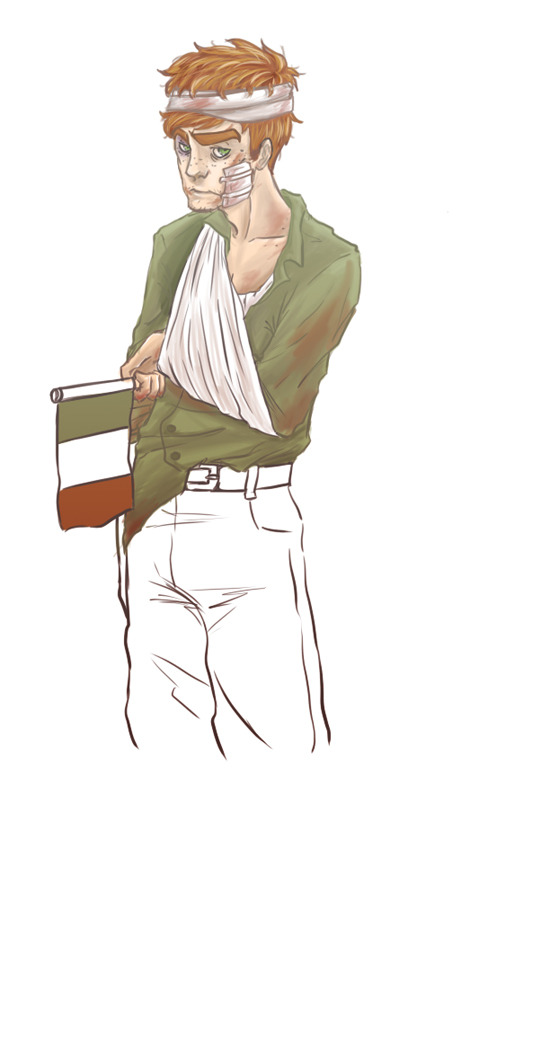 le-black-sheep:  I'm so lazy I never really finish my drawings. HUHU. Irish Civil War (June 1922- May 1923). I dunno why, I wanted to.