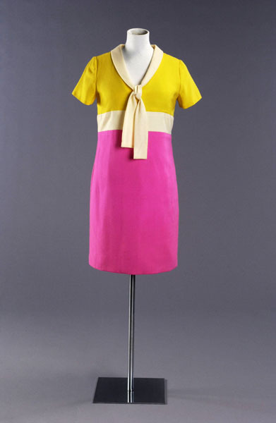 A neon day dress from Jean Varon's Spring-Summer 1967 collection.