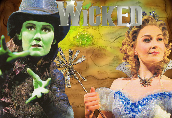 2011 Standby power!  Chloe Taylor as Glinda and Nikki Davis Jones as Elphaba