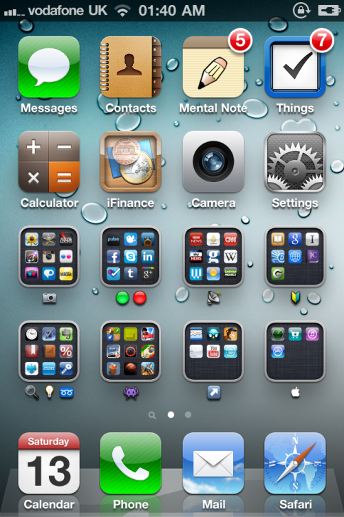 Today's #iPhone 4 homescreen