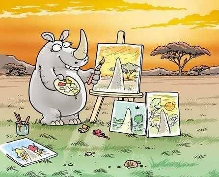 through a rhino's eyes