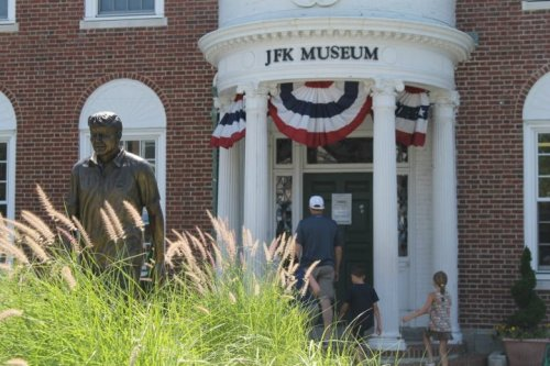 newenglandthings:  ©this-is-interlude.tumblr.com Hyannis, Mass. JFK Museum.   I used to be able to walk here. its also my favorite field trip location.
