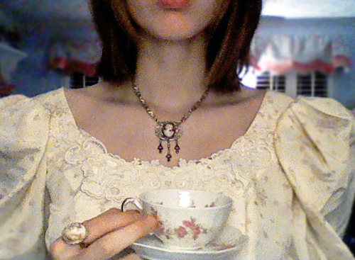 girlsinheels:  Found some lovely cameos, teacups, and a Victorian dress at the antique market today.  Excellent work ^_^