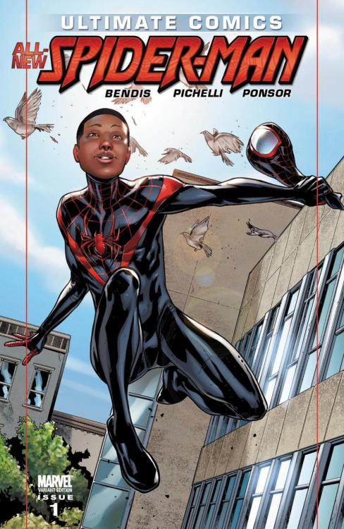 In September, Marvel's introducing Miles as the new official 'Spiderman', after Peter Parker was killed off for good in June. He's half-black and half-hispanic, with a completely new backstory/mantra to boot.  Not gonna lie, I'm pretty excited for this. It'll be interesting to see how they revamp the series.