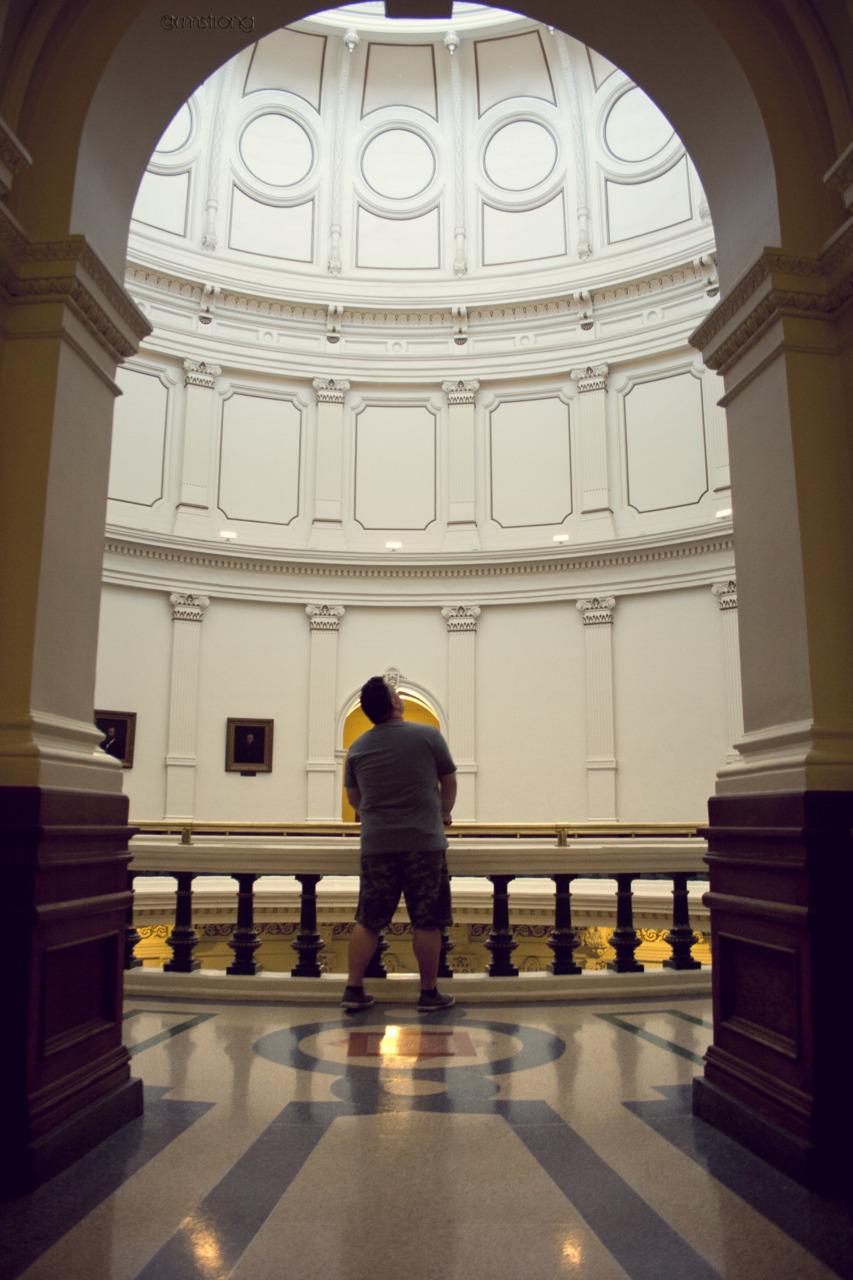 Looking up in the Texas Capitol Building