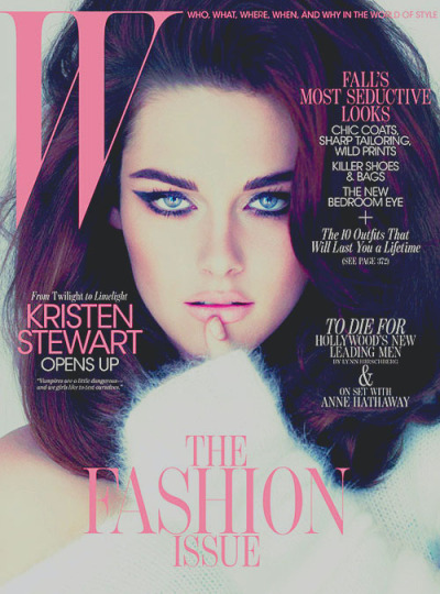 Twilight star Kristen Stewart is BREATHTAKING on the latest cover of W magazine! I love love love her.