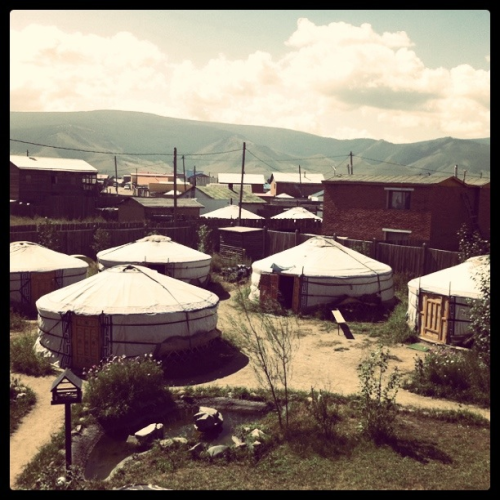 The Oasis, best hostel in Ulaanbaatar! We stayed in a yurt (aka ger)