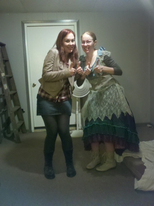 HERPING THE DERP. Me as Amy Pond and my sister (keyofmgy) as a still-in-progress Idris