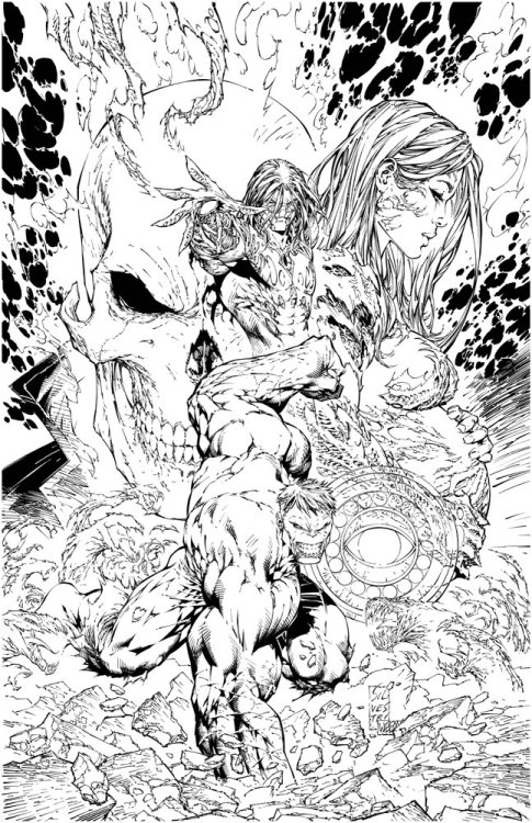 Ghost Rider, Hulk, Witchblade & Darkness by Marc Silvestri