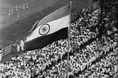 65 years of Independence - Celebrating the spirit: It is 65 years since India's freedom at midnight. We take a look at the struggle that led to the moment in pictures most have not seen before. In this picture, on August 17, 1960 Indian prime minister Pandit Jawaharlal Nehru (1889-1964) addresses the crowd in Delhi, on the occasion of India's 14th Independence day. Above him flies the national flag of India. More»