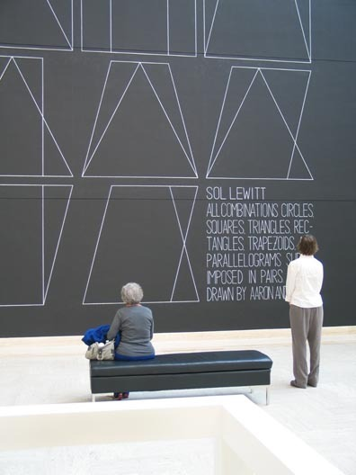 Sol LeWitt Wall Drawing #304 (via PORT - Portland art   news   reviews) Sol LeWitt: the original hipster????????