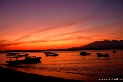 Sunrise at Gili Trawangan, NTB - Indonesia
