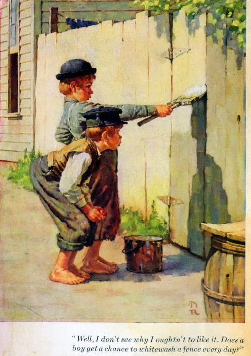 A illustration from The Adventures of Tom Sawyer 1930s