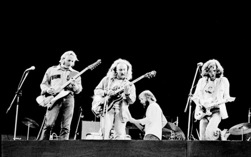 Stephen Stills, David Crosby and Graham Nash. (Carry On - Listen here)
