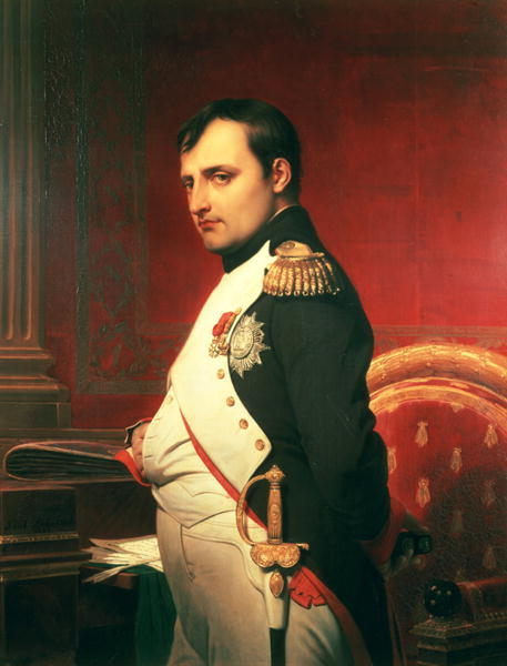 Napoleon in His Cabinet by Hippolyte Delaroche.