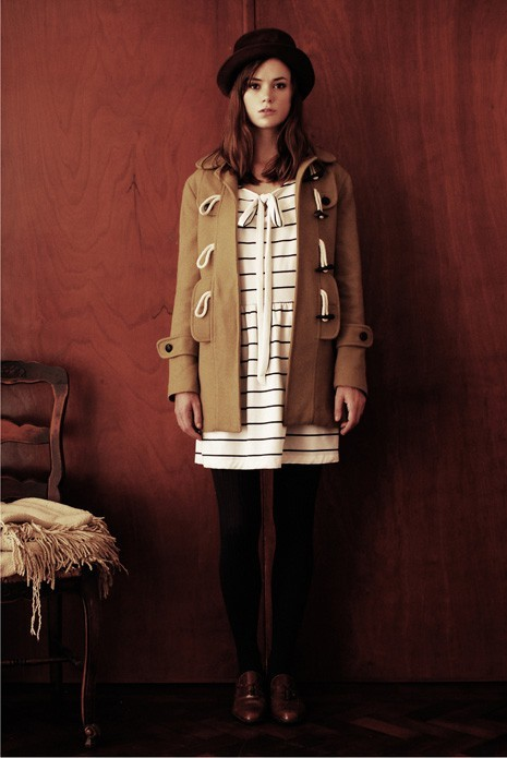 C'mon, fall weather!! I miss tights with dresses, sweaters, coats - love this look here, though I'm sure it's more expensive than any clothes I own!
