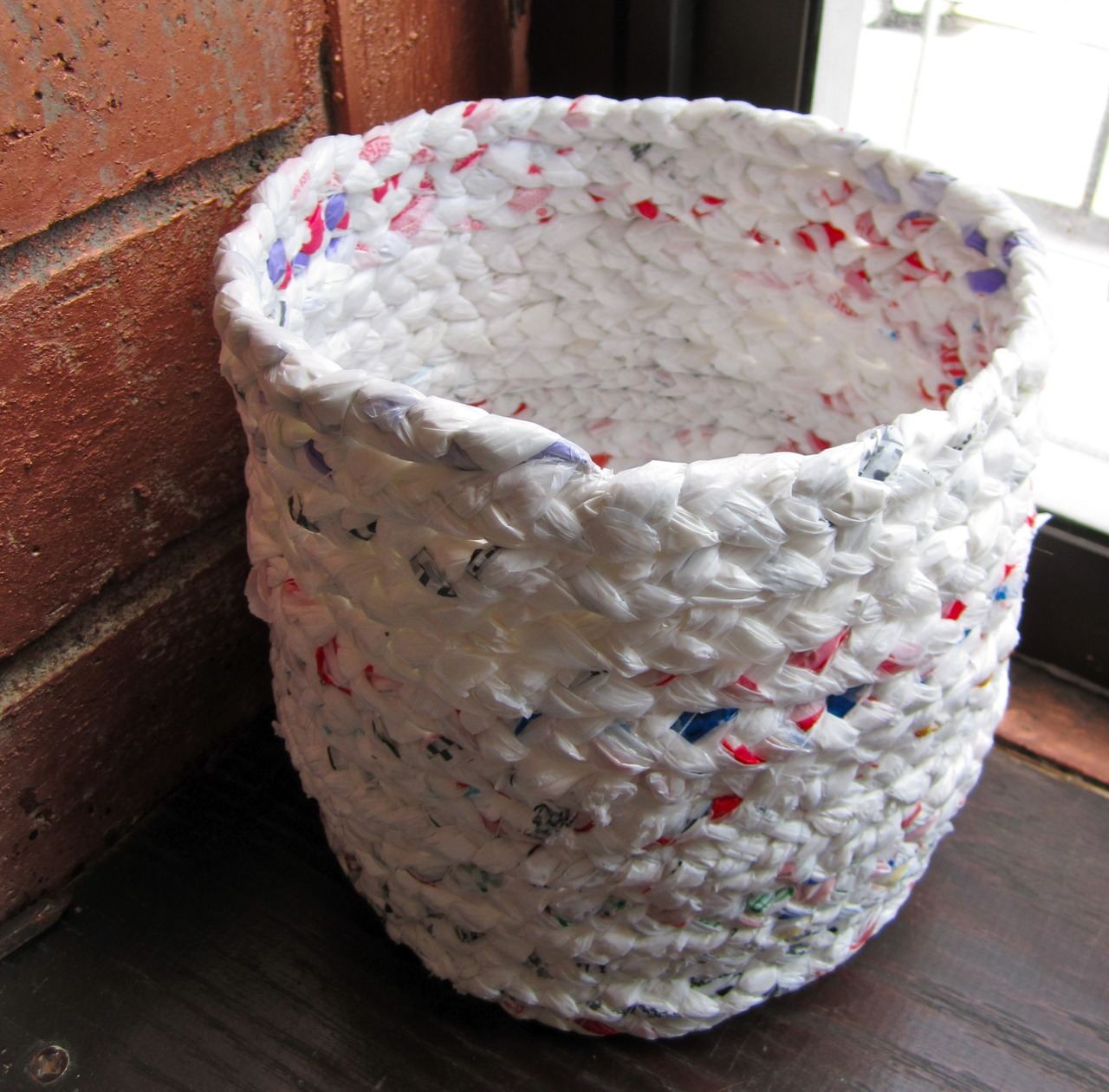 The finished basket - I think I'm in love. :D The whole tutorial is up on instructables, if you'd like to see how to make your own!