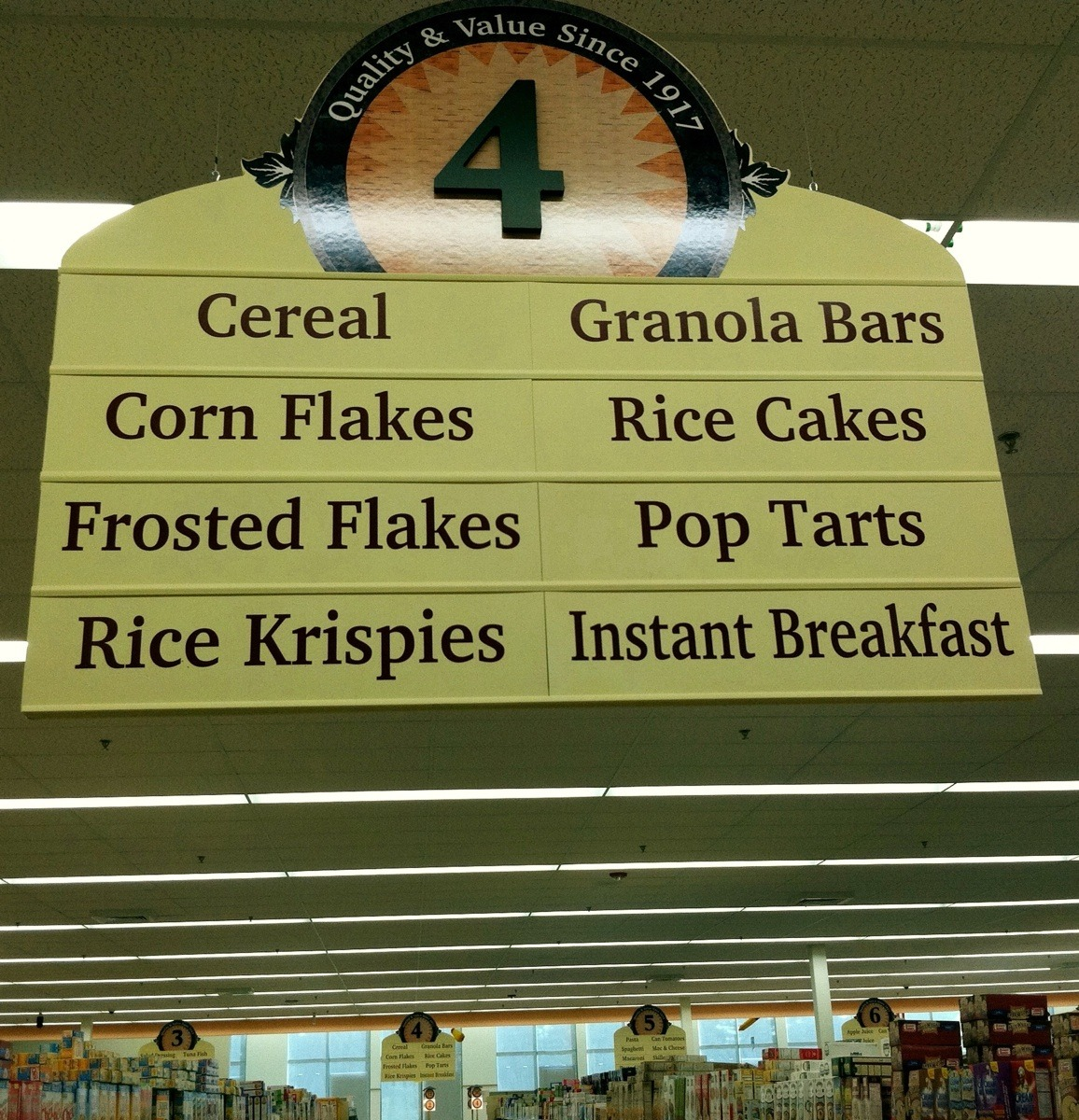 Oh! Cereal AND Corn Flakes, Frosted Flakes, and Rice Krispies. I see.