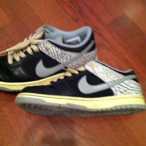 On My Feet @nikestore #mynikes #dunks #low #Nike  (Taken with instagram)