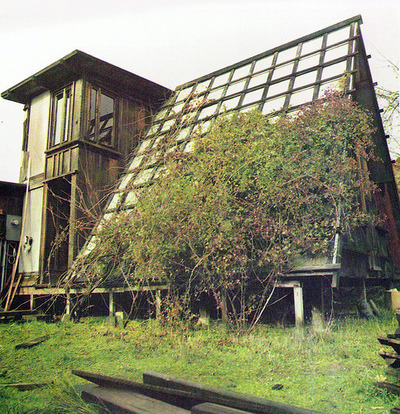 a-frame roof of windows