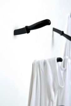 realreeceshears:  Always wanted to hang your coat on a knife? Well now you can!