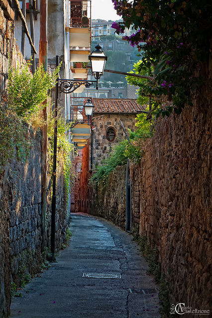 sunsurfer:  Narrow Street, Sorrento, Italy  photo By Angelo Casteltrione
