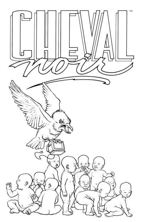 Spot Illustration for Cheval Noir.
