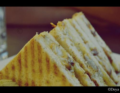 Eating Triangles. Roast Chicken & Mayo Sandwiches at Cha Bar. <3