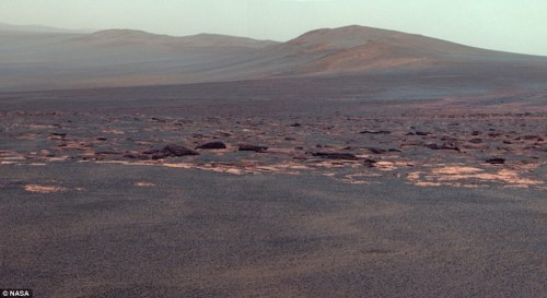 Endeavour crater on Mars by the Opportunity rover.
