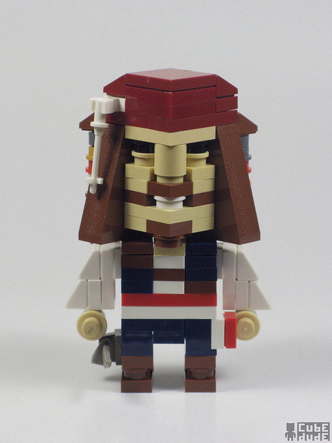 CubeDude Captain Jack Sparrow by MacLane on Flickr. Captain Jack Sparrow.