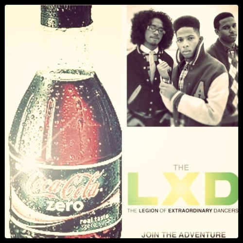So guys!!! Coke Zero and the LXD are coming together to make up a new dance, & we need y'alls help. visit www.cokezero.com/makeitpossible to get started!!! ;) (Taken with instagram)