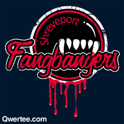 "fishbiscuit5:  ""Shreveport Fangbangers"" True Blood inspired shirt on sale now at http://qwertee.com/ for a limited time!  late reblog submission from fishbiscuit5"
