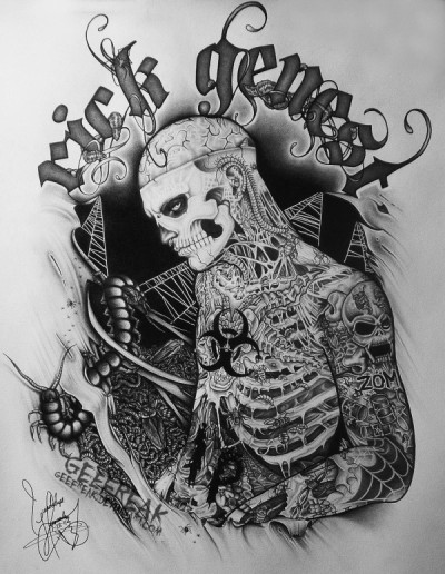 monygermanotta:  Rick Genest Artwork♥