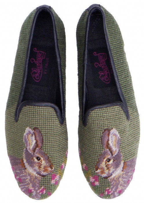 shoes bunny rabbit embroider slippers