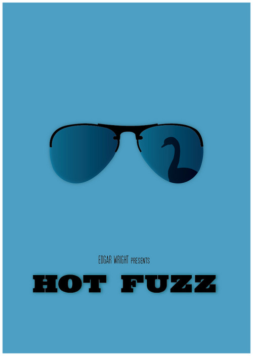 fuckyeahmovieposters:  Hot Fuzz Made and submitted by Sabrina Jackson  Well it's a Swan, i didn't realise that owner was Stephen Merchant until the 3rd time i watches it.