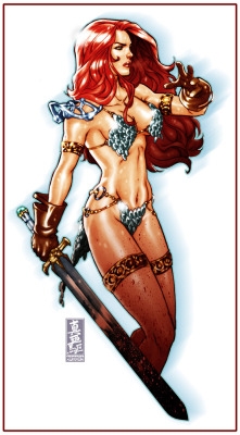women-centric-comics:  Red Sonja sketch by `diablo2003