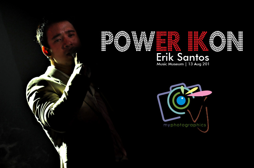 A two-night SOLD OUT concert from the Prince of Pop Erik Santos' PowER IKons in Music Museum as he gives tribute to the great local and international music icons. A benefit show  for Bosom Buddies Cancer-Foundation. We're very happy and honored to witness Erik's superior vocal prowess, undeniably deserves a standing ovation. This is our VJP Teaser, enjoy! PowER IKons | Music Museum | 12 & 13 Aug 2011 Guest performers: Angeline Quinto (Star Power Grand Champion), Stephanie Reese (Miss Saigon's Kim - Germany) and Concert Queen, Pops Fernandez PowER IKons | Music Museum | 12 & 13 Aug 2011