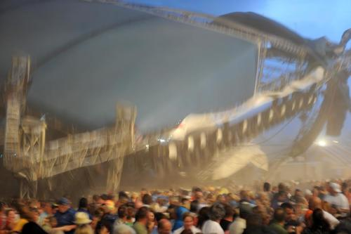 "BREAKING NEWS: 4 dead, dozens hurt when music stage collapses at the Indiana State Fair. ""We are all right,"" tweeted the band Sugerland, which was playing at the  venue. ""We are praying for our fans, and the people of Indianapolis. We  hope you'll join us."" Terrifying photo shared on Twitter by IndyStar.com."