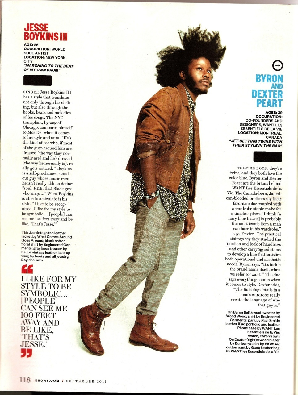 AYYYYYYYYYYY theloveapp:  Jesse Boykins III x Ebony Magazine (september issue) :: The Gentleman's Club :: photo by Kareem Black