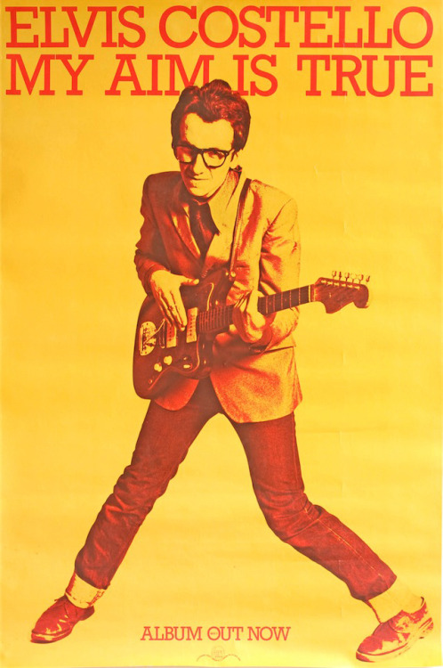 Elvis Costello, 'My Aim is True' poster art design by Barney Bubbles, 1977.