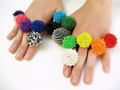 Duct tape rings Craft Snob