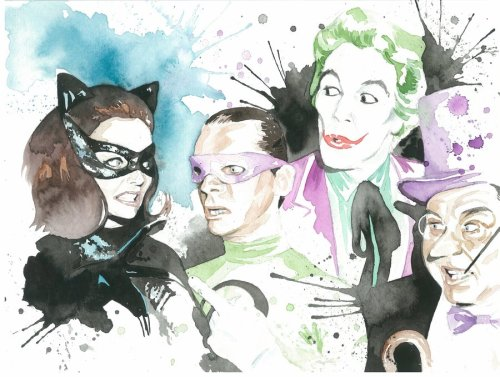 thehappysorceress:  Batman Villains by Jonathan A. Reincke Prints available here.