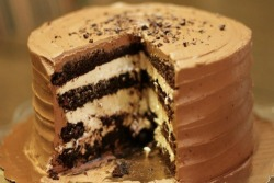 celebratewithcake:  Toasted Chocolate Marshmallow Cake